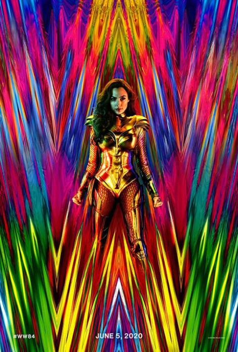 Wonder Woman 1984, original movie poster with June 2020 opening date