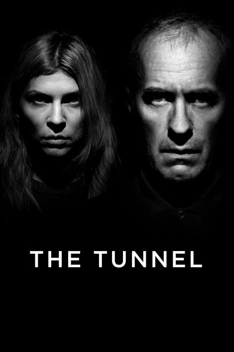 The Tunnel TV series black and white poster