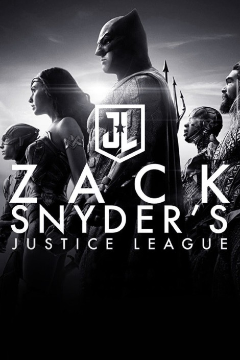 Zach Snyder's Justice League poster in black and white