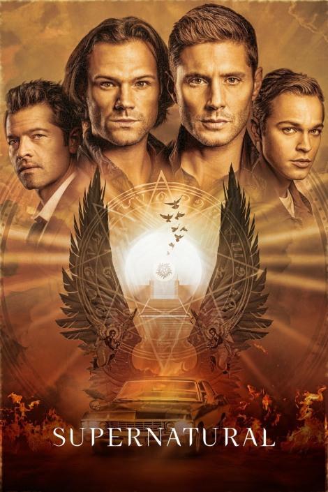 Supernatural last season poster.