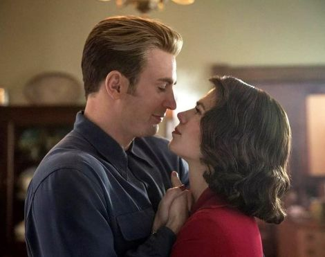 Captain America and Peggy Carter dance at end of Endgame.