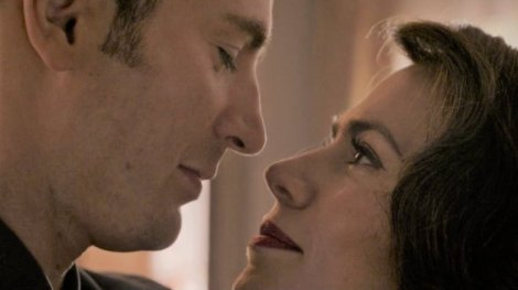 Captain America and Peggy Carter dance at end of Endgame - close-up.